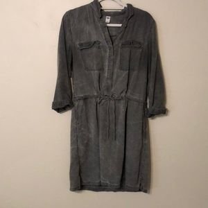 Grey denim wash dress